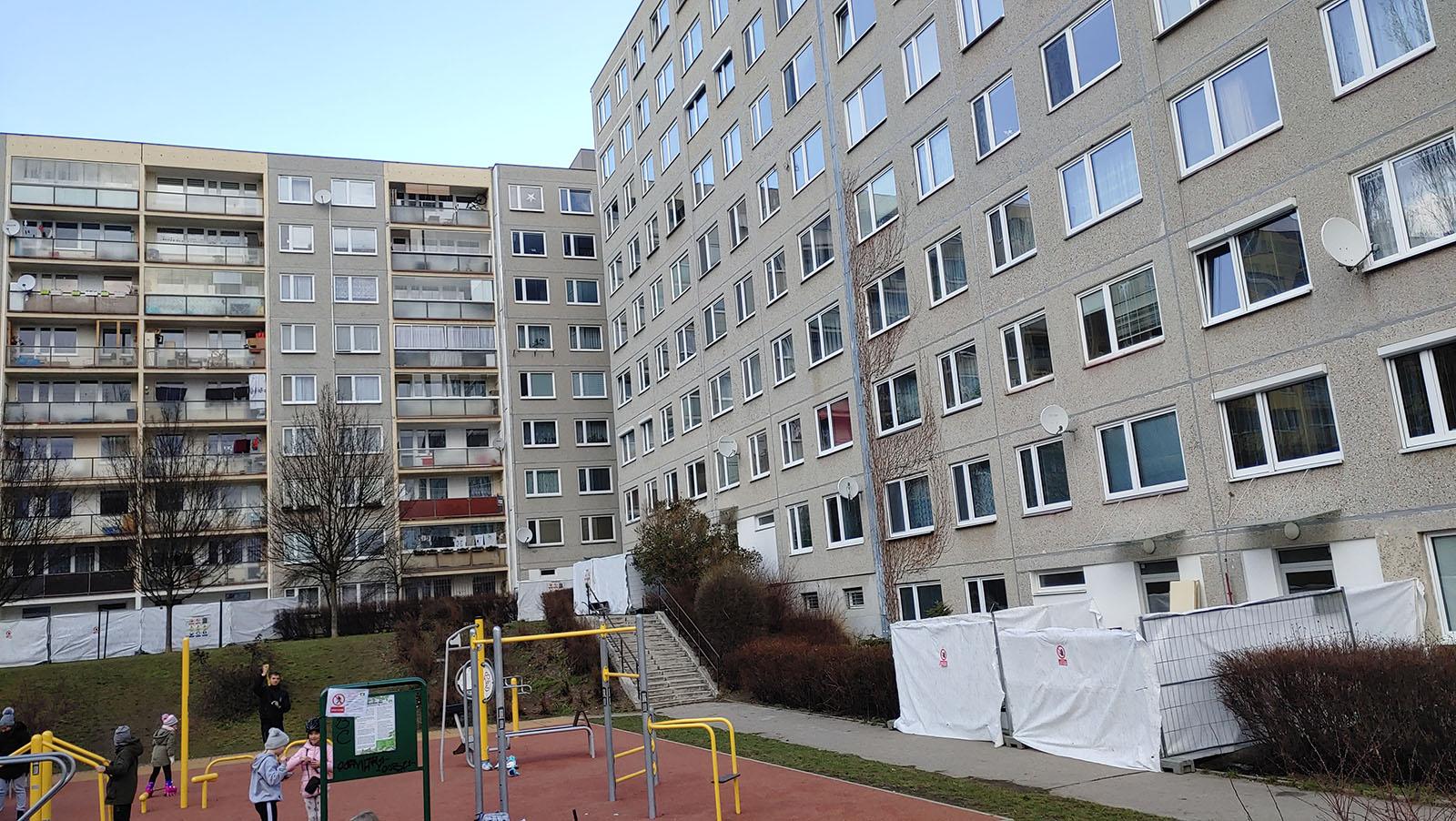 Janského/Přecechtělova 2234-2240, oprava schodišť a ramp bytového domu