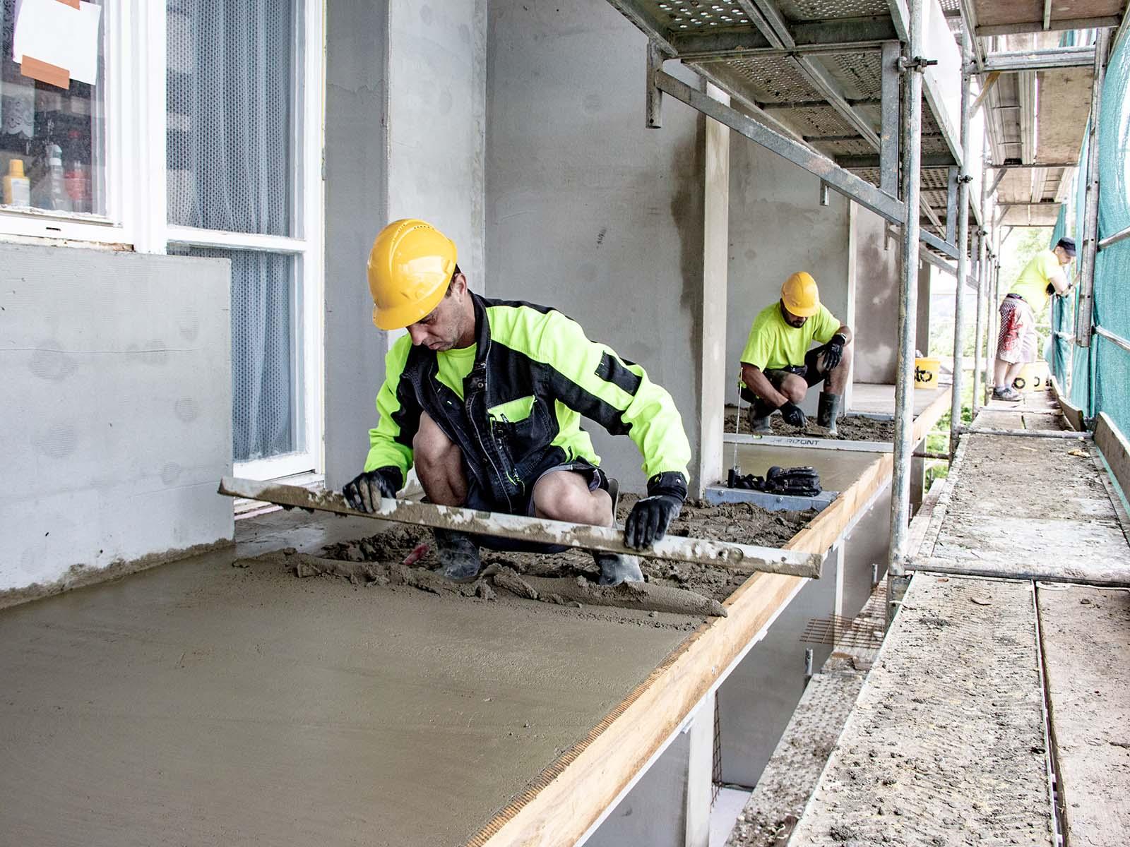 Betonování podlah prodloužených lodžií