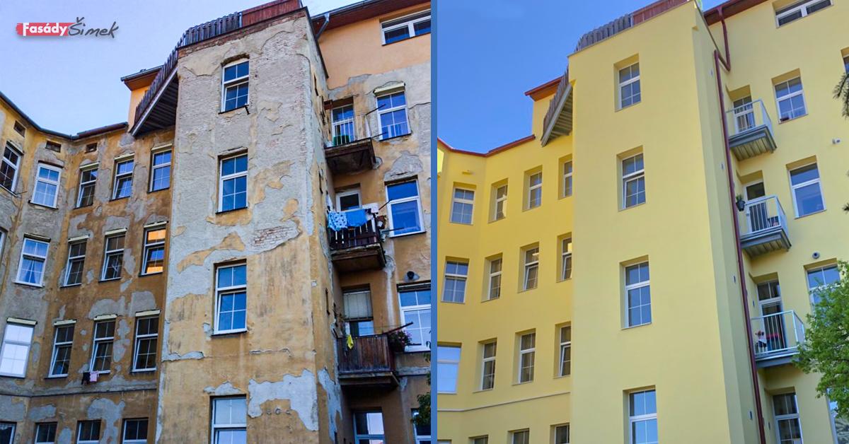 Brno Komárovská - před a po